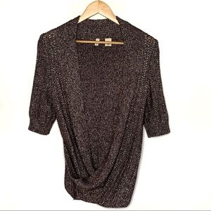 Moth Anthropologie Front Wrap Sweater Medium